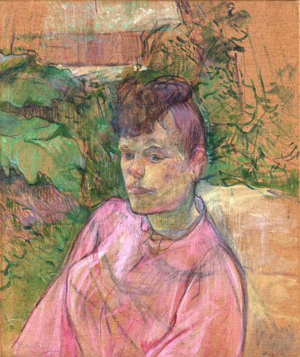 """Toulouse-Lautrec's """"Woman in the Garden of Monsieur Forest"""" is among the paintings from the Met's private collection that Kerry James Marshall has picked to hang among his own."""