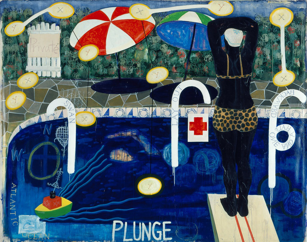 """""""Plunge"""" by Kerry James Marshall sold for $2.1 million at Christie's this year - a record for the artist- yay!"""