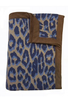 Leo leopard luxury cashmere and wool blend throw by Rani Arabella