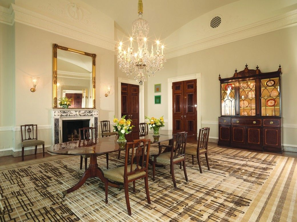 Another view of the State Floor's old dining room - not a fan of this rug