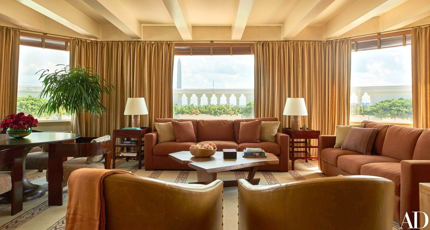 The Obama solarium or sky parlor - this is a lovely room and is certainly the most relaxed of all - beautiful view too