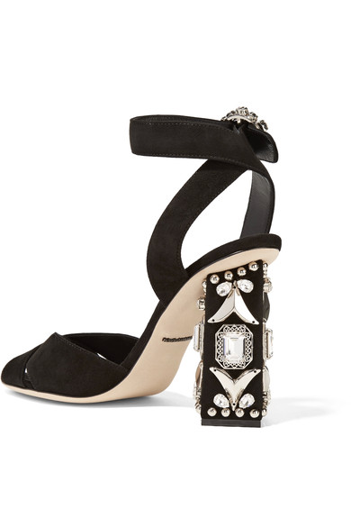 Dolce & Gabbana embellished suede shoes