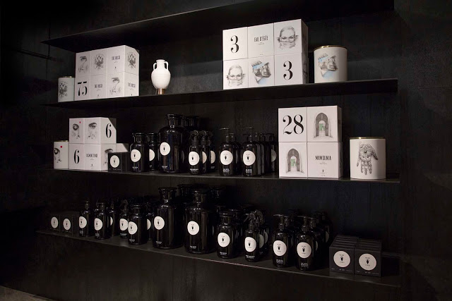 Apothecary collection in vintage-era signature black &white packaging