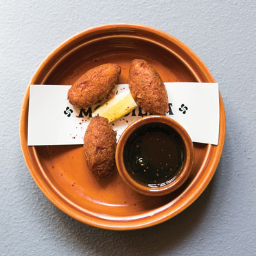 Bacalo croqueta -  this and next 3 photos from  Pittsburgh Magazine