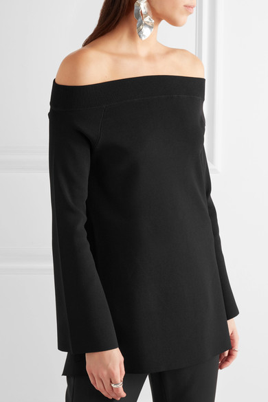 Solace London off the shoulder backless top