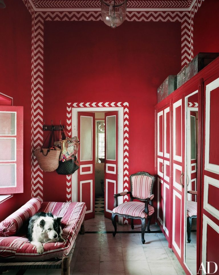 Interior Design - dissecting the details of a blue & red palette - Doreen Chambers Best Brooklyn Designer