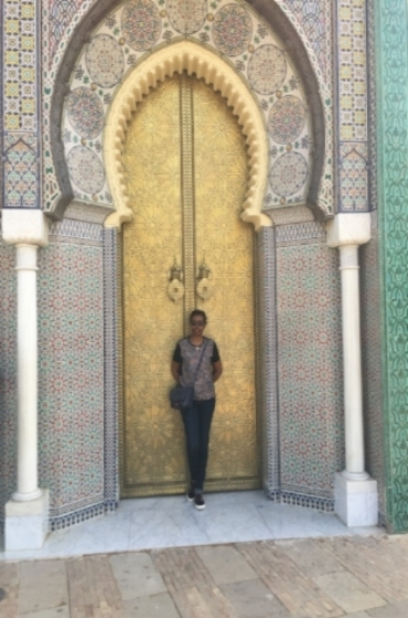 The doors to the palace, but sadly the King is not in residence