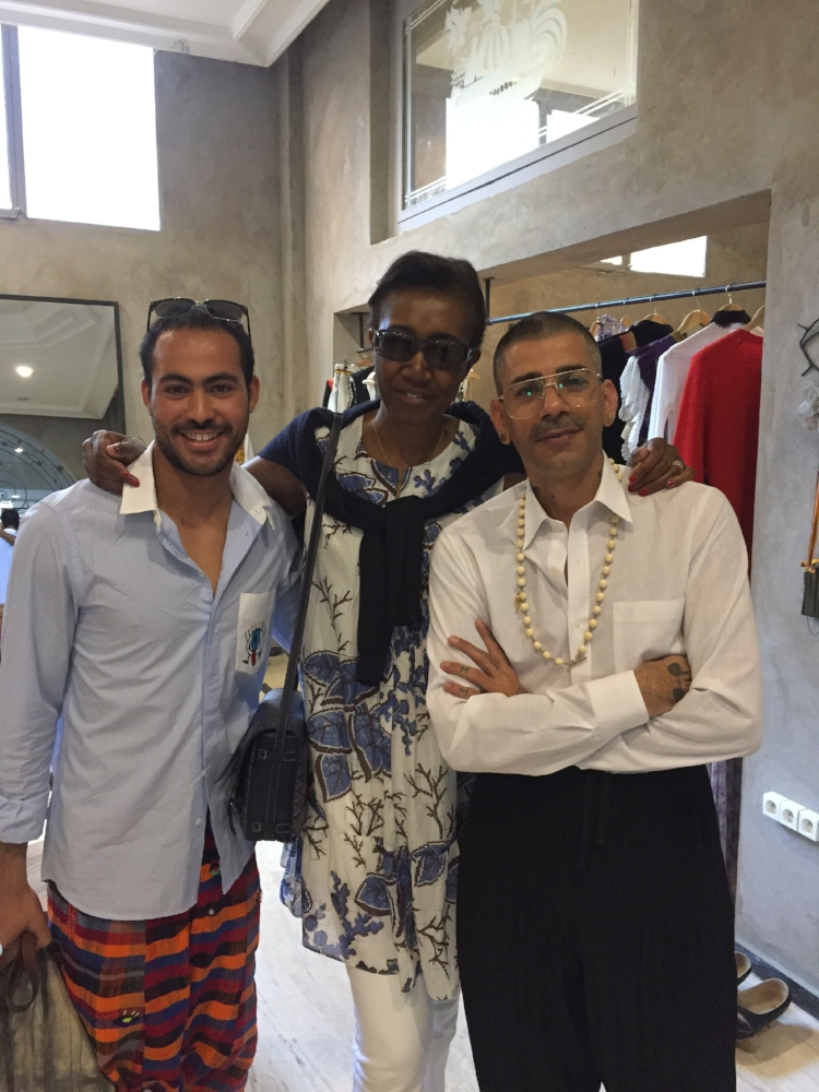 Our peerless guide Ibrahim Mouhib on the left and the designer Artsi-Ifrach on the right