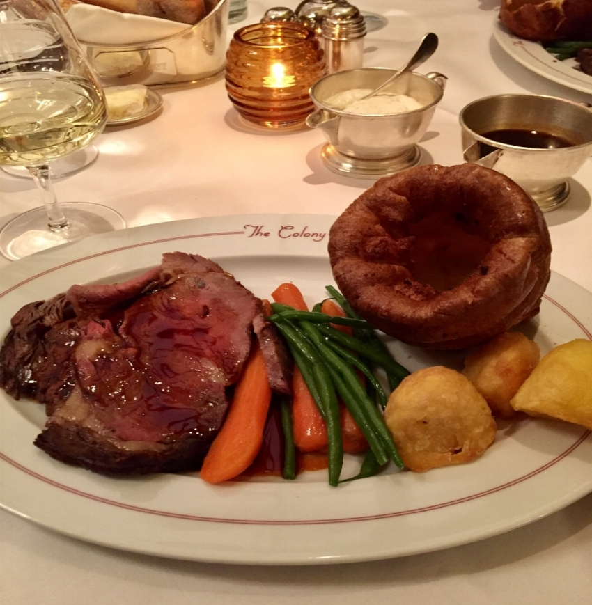 Classic Sunday roast complete with Yorkshire pudding - yay!