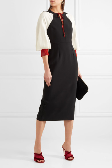 Atlen cady and georgette mid dress - Roksanda
