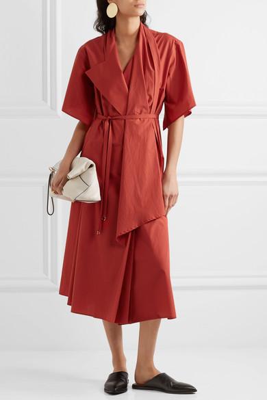 Cotton poplin wrap dress -Lemaire
