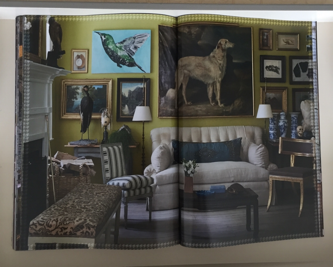 Highly regarded Interior designer Daniel Romualdez shows his recently completed Connecticut country house and his extensive taxidermy collection