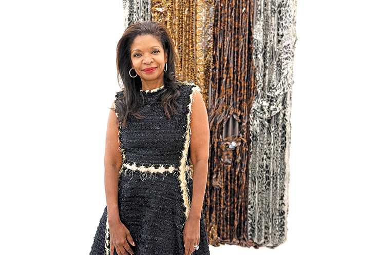 """Forever chic Pamela Joyner """"is the Diana Ross of the art world"""" quipped artist Isaac Julien    Photo by Linda Nylind"""
