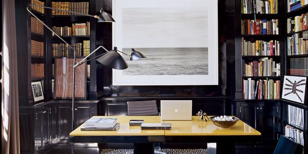 Photo from Elle Decor Magazine -  custom finish lacquered black - consider black a neutral as it works well with just about every color in the spectrum