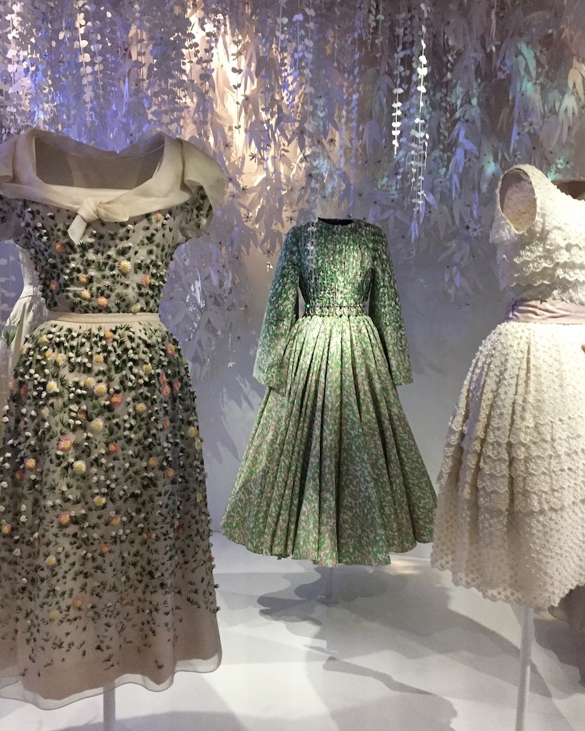 Garden inspirations...the left and right frocks are Christian Dior designs and the middle one is from Raf Simons - the common feature of course is Dior's signature cinched waist silhouette