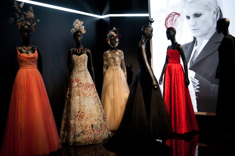 Maria Grazia Chiuri the current artistic director with designs from her couture collection -  photography by Agnes Dherbys for the New York Times