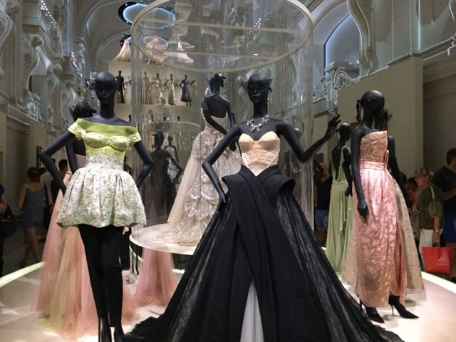 This final hall is dedicated to a stunning array of gowns created by each of the Dior designers...amazing!