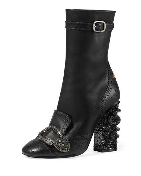Gucci Queercore leather brogue the hardware makes them glam but also a little edgy