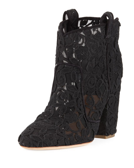 Laurence Dacade Pete lace Western bootie  - a cowboy boot in all-lace how can you not love that??