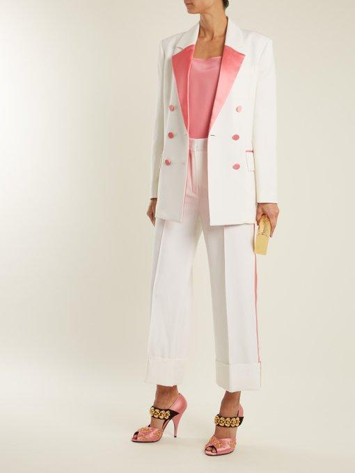 Racil Paris tuxedo suit - dress it up with directional heels