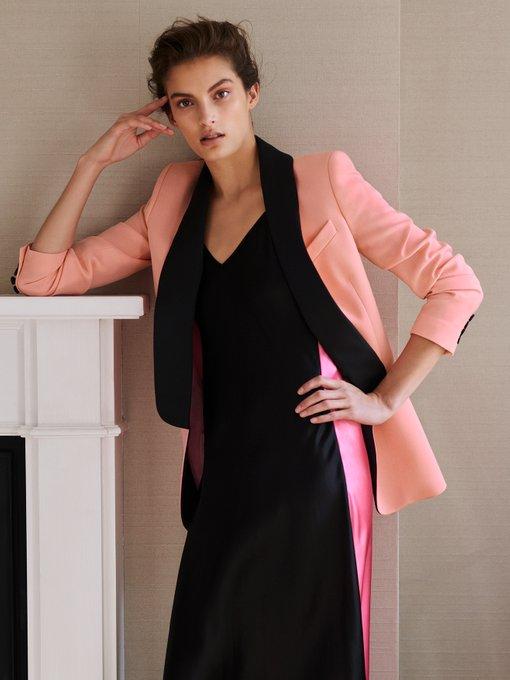 Racil New York Contrast lapel wool blazer