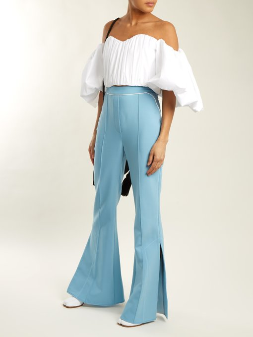 Orlando mid-rise flared pants - took me awhile to get with slide slit pants but now I love them!