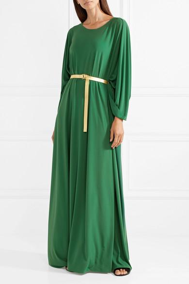Norma Kamali belted maxi dress