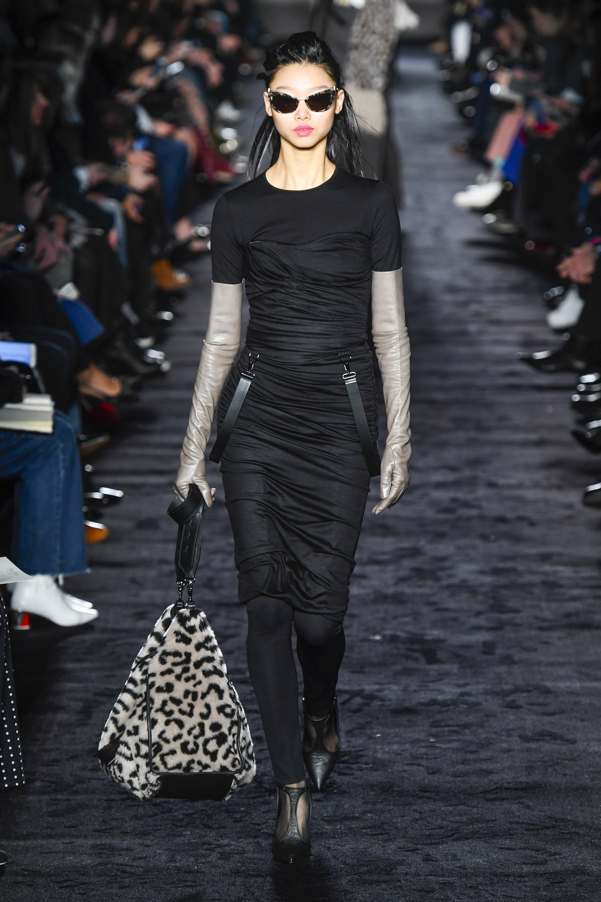 Max Mara Ready-to-Wear Fall 2018  - For those of us who can handle only but so much animal print this bag brings whatever else you're wearing bang up-to-date