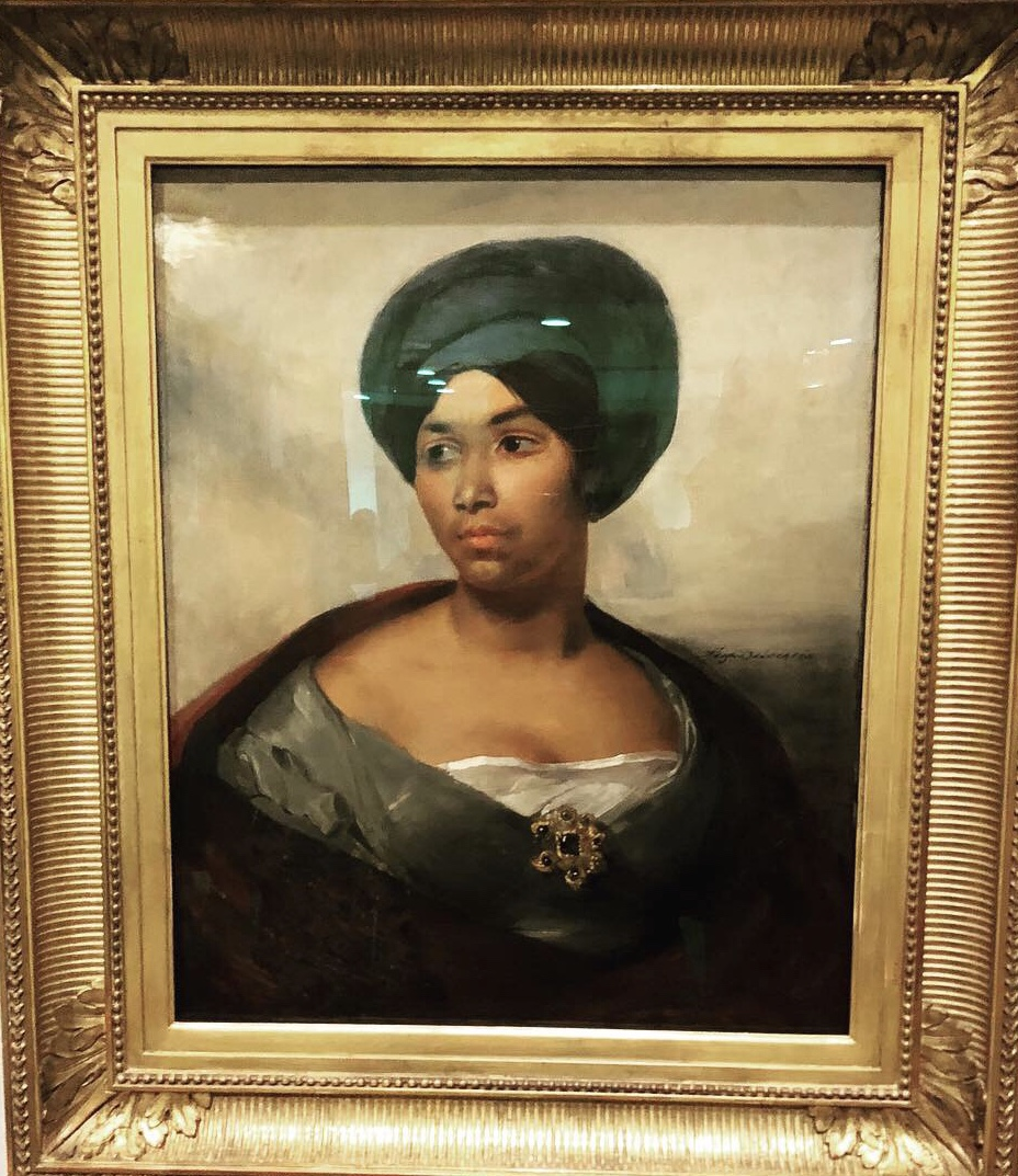 Eugéne Delacroix Portrait of a Woman in a Blue Turban 1827 - Dallas Museum f Art, The Eugene and Margaret McDermott Art Fund, in honor of Patricia McBride