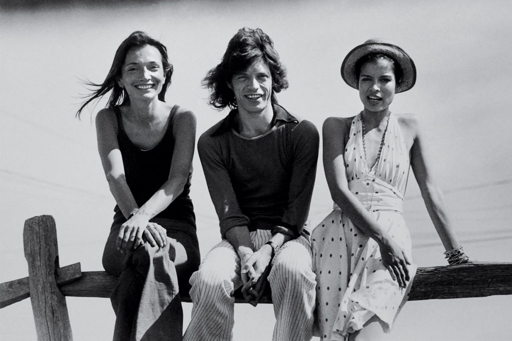 With Mick & Bianca Jagger