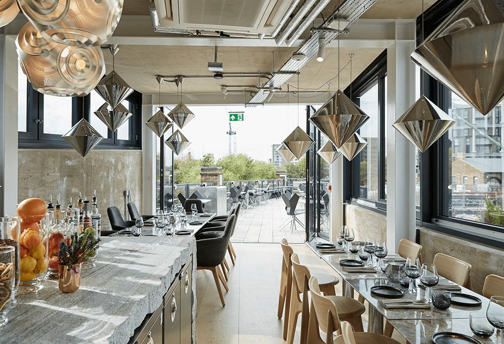 Coal Office restaurant outfitted with accessories and lighting in collaboration with Tom Dixon…  coalofficerestaurant
