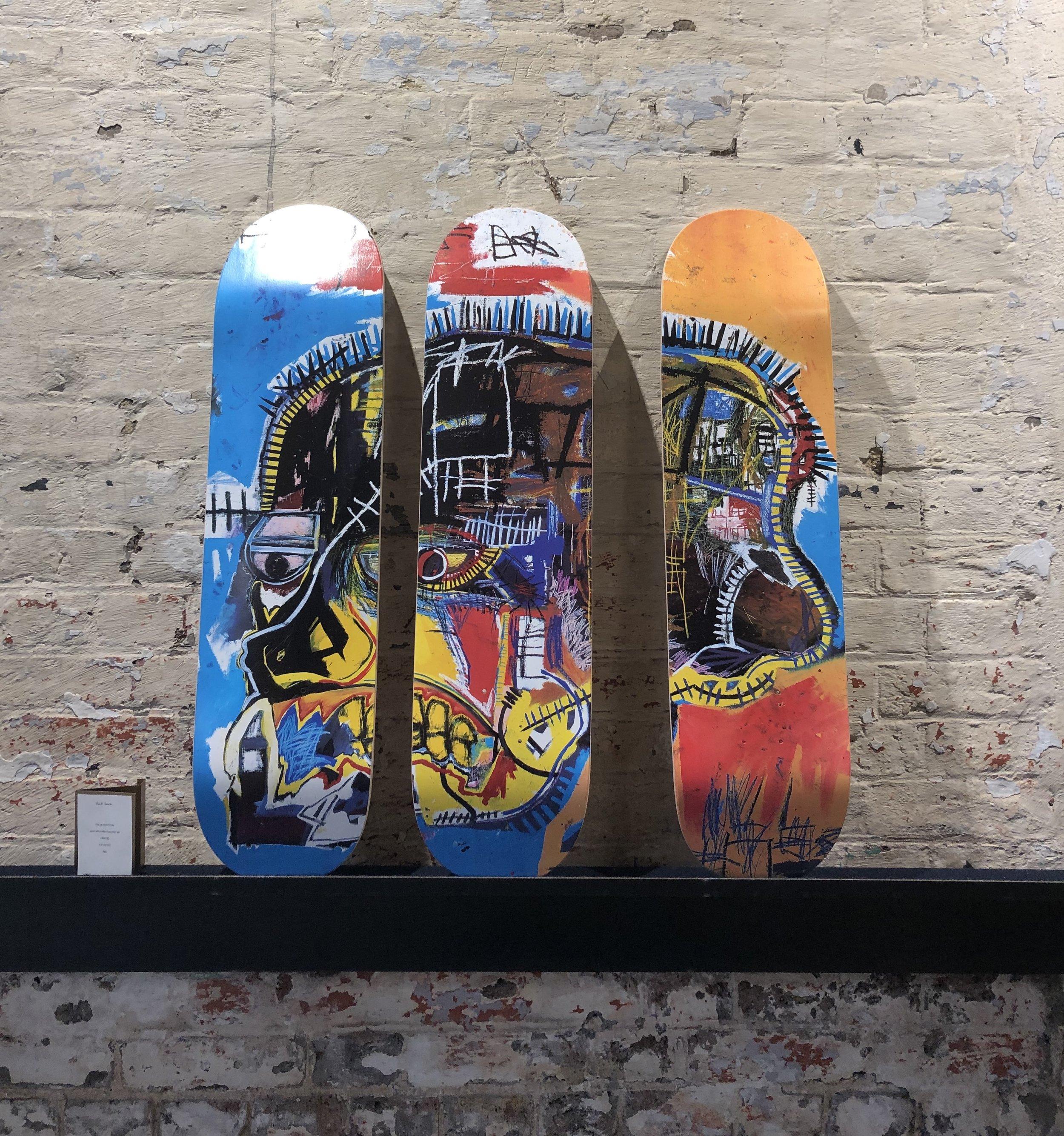 Basquiat skateboards from Paul Smith