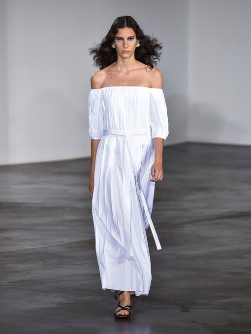 Gabriela Hearst - Narciso cotton poplin midi dress