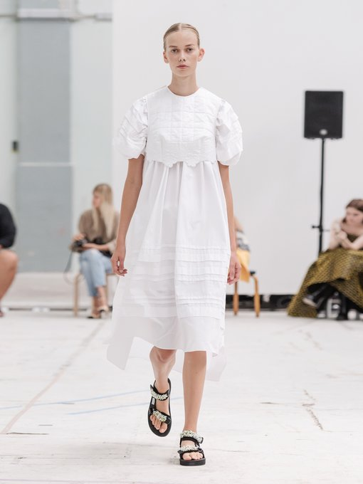 Cecilie Bahnsen - Penelope puff sleeve cotton dress