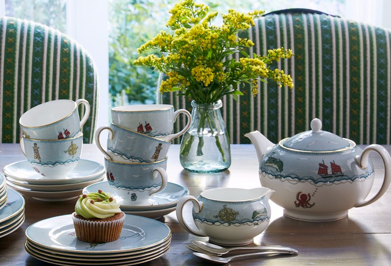 Photograph from Firmdale Hotels - Sailors Farewell fine bone china tableware designed with Wedgwood