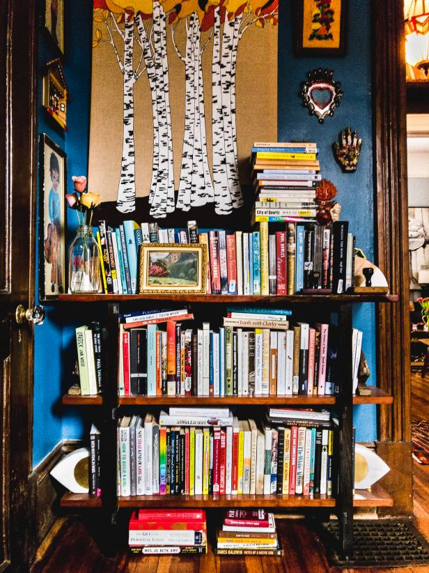 """Susan's """"bookish Bohemian grandma"""" decorating style flourishes throughout her home"""