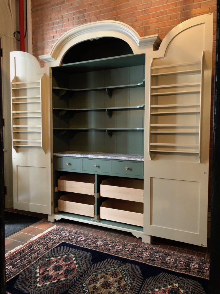Not just limited to the kitchen Plain English can produce equally exquisite bespoke wood furniture for the living, dining, bed, laundry and mudrooms