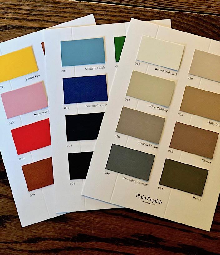 A rainbow of paint finish options