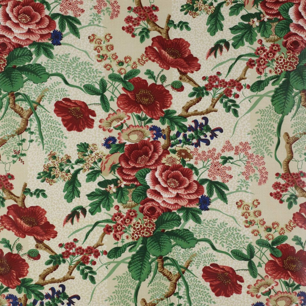 Colefax & Fowler Tree Poppy  fabric inspiration for the poppy slipper