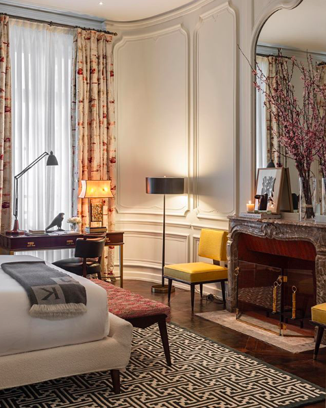 Classic and contemporary French furnishings are seamlessly balanced