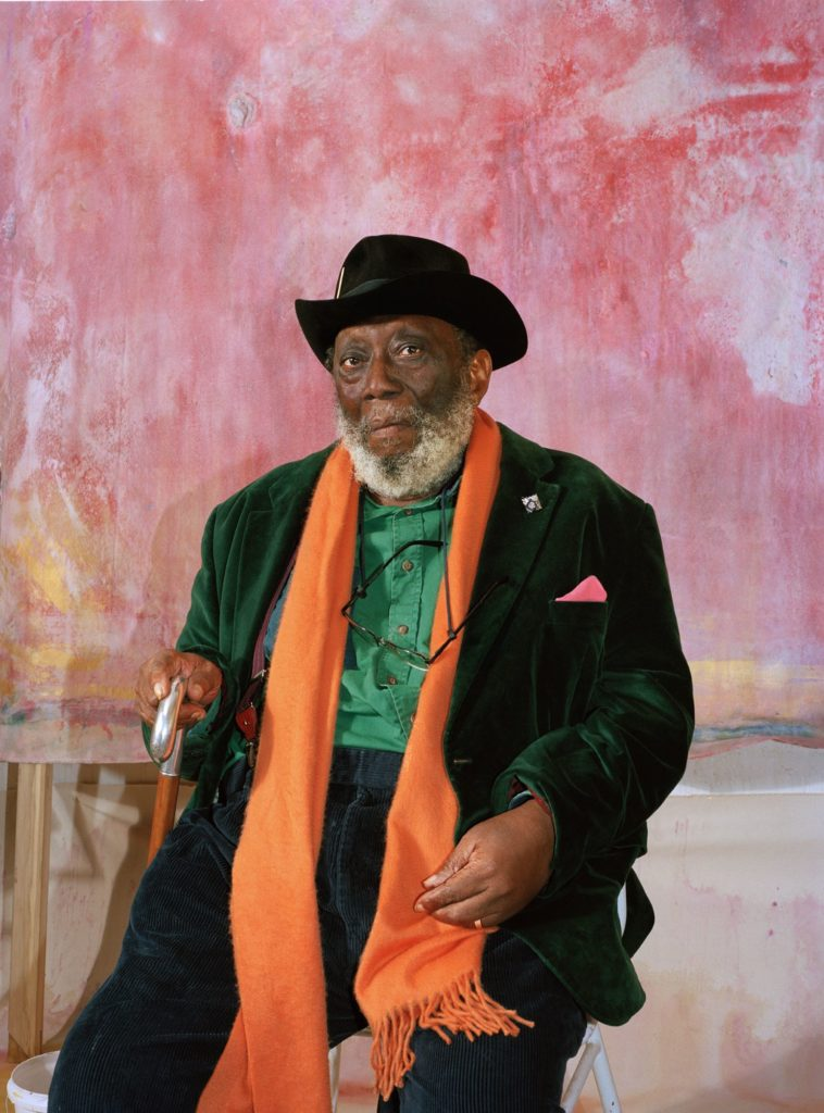 Frank Bowling attired in a palette as vivid as his dazzling art