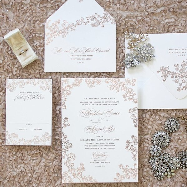 @cecinewyork   The leader in custom luxury wedding invitations and lifestyle design stationery. This Petite Rose design gives a polished look with just the right amount of elegance.
