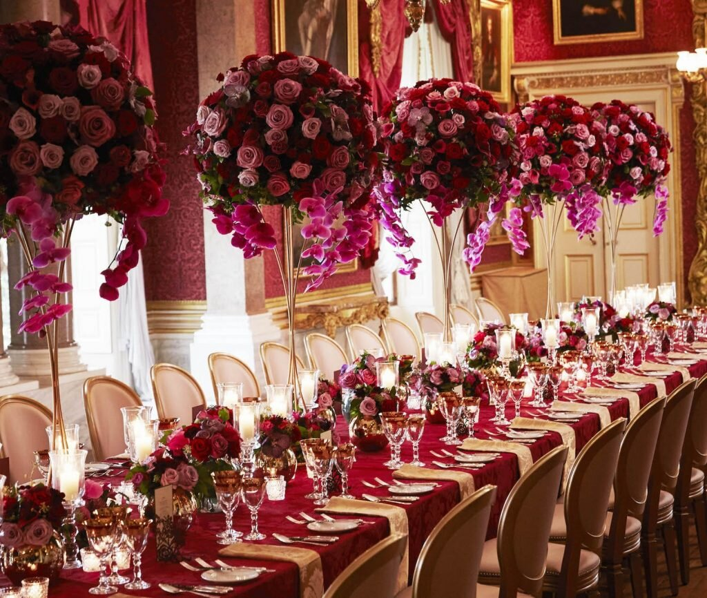 Larry Walshe  is an exceptional florist located in London creates magic with his extravagant bespoke floral arrangements from a small intimate gathering to a grand palatial affair