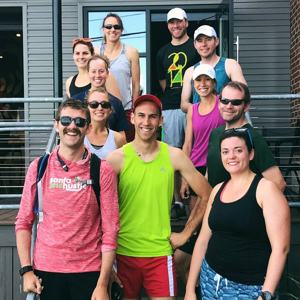 "Sunday Runday with Thick Quad Squad, Portland, ME. The person with the mustache is called ""Summertime Pat"" and is me."