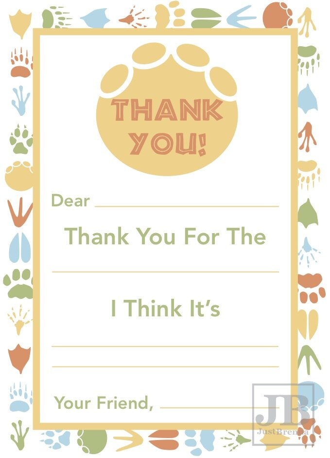 3. Fill-In-The-Blank Thank You Card