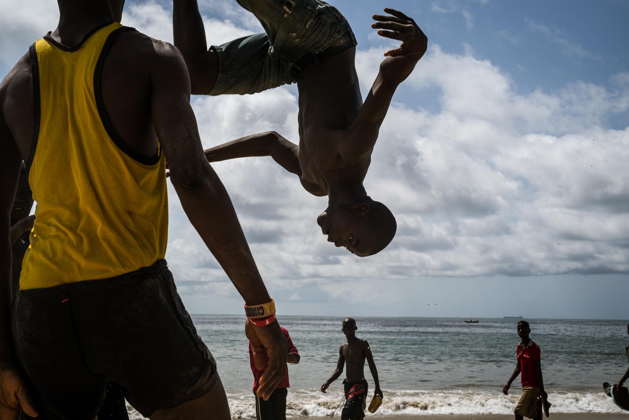 Lumley Beach, Freetown, Sierra Leone.