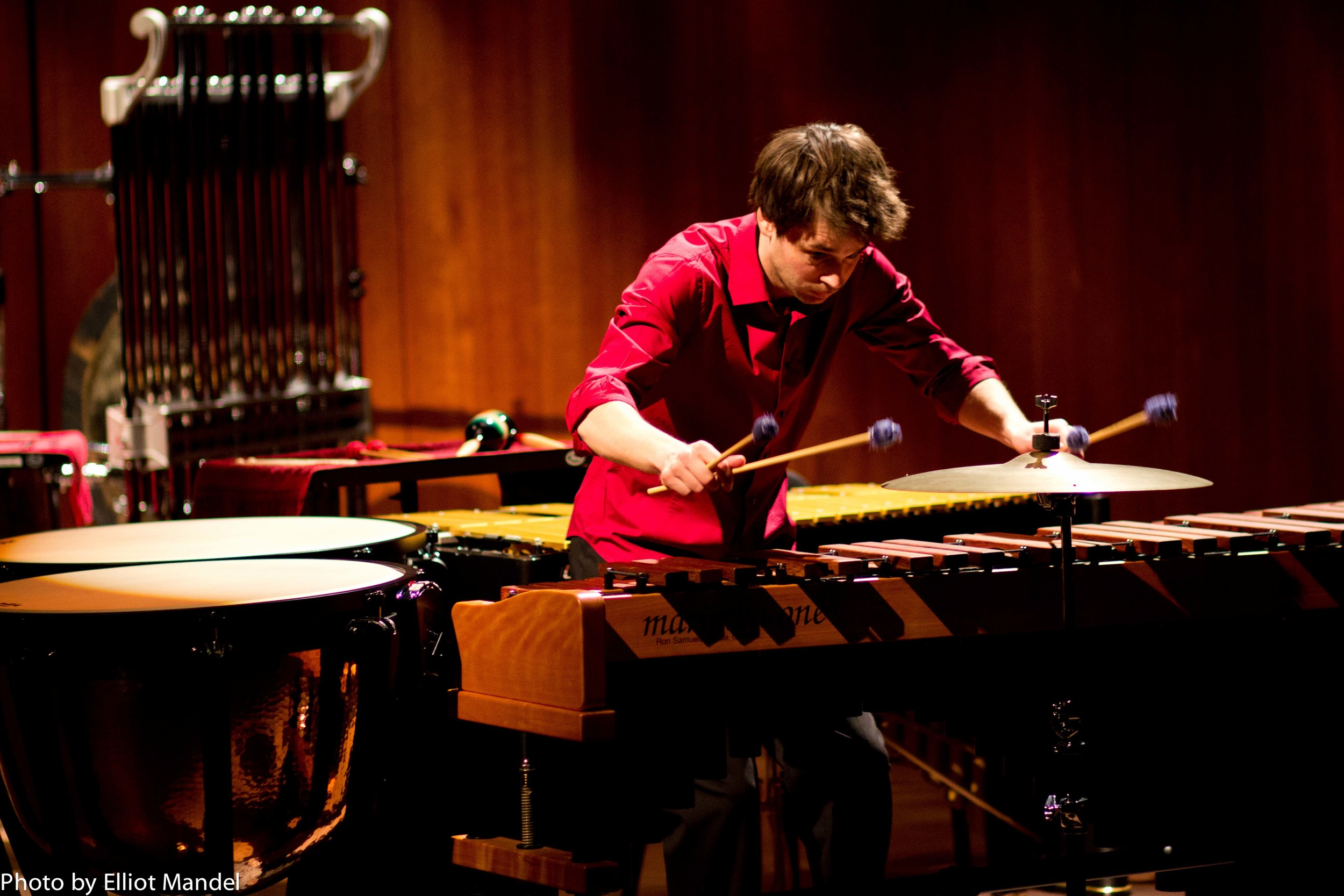 Percussionist Nicholas Reed