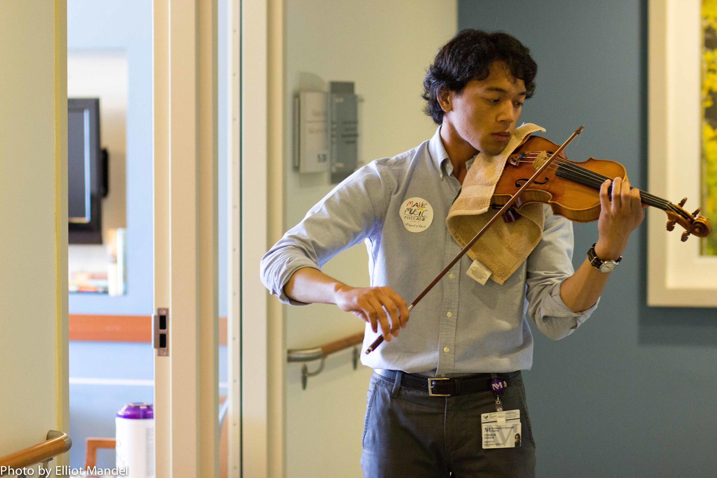 Violinist Francis DeAsis.