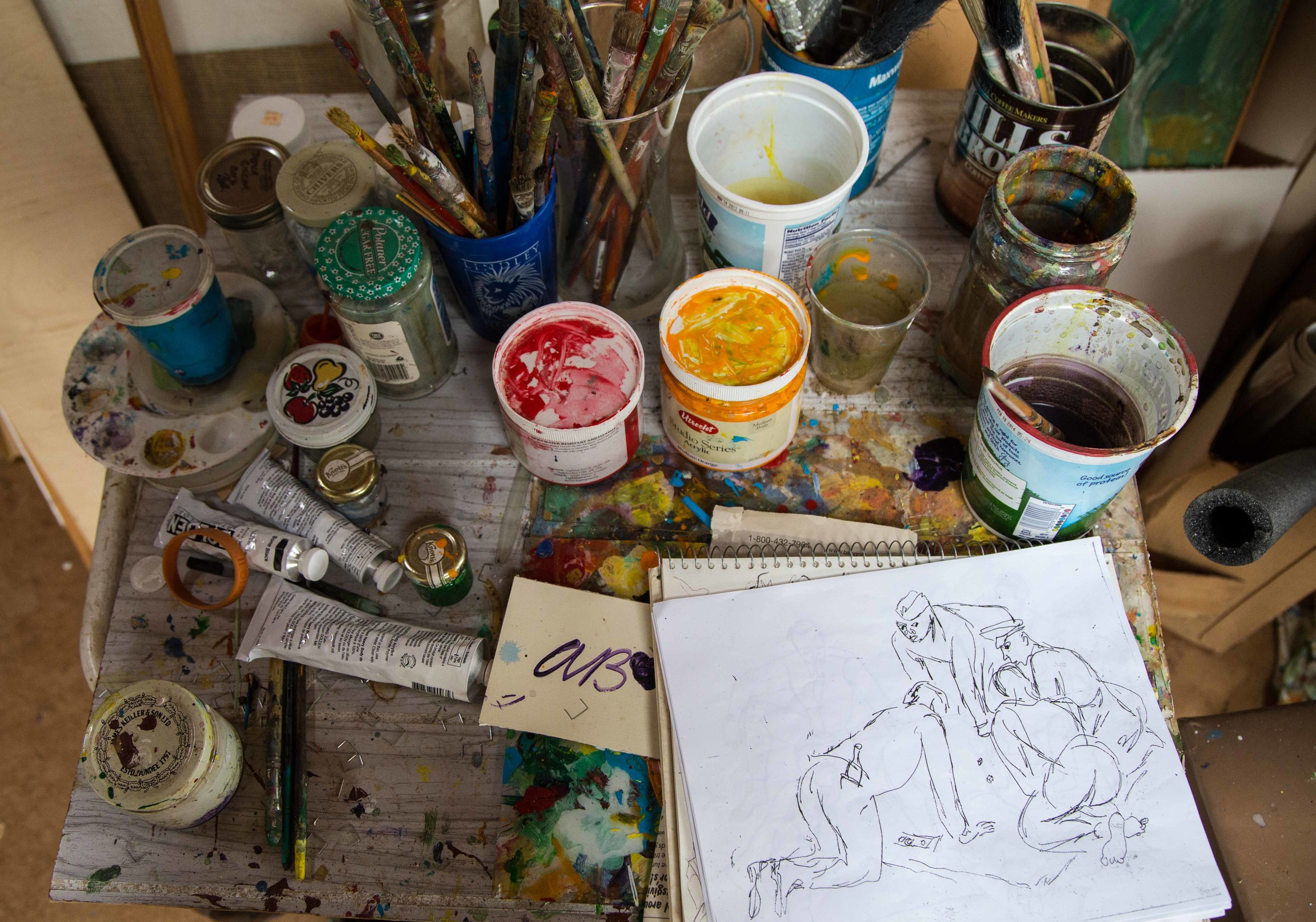 Ashley's studio, filled with a million wonderful details.