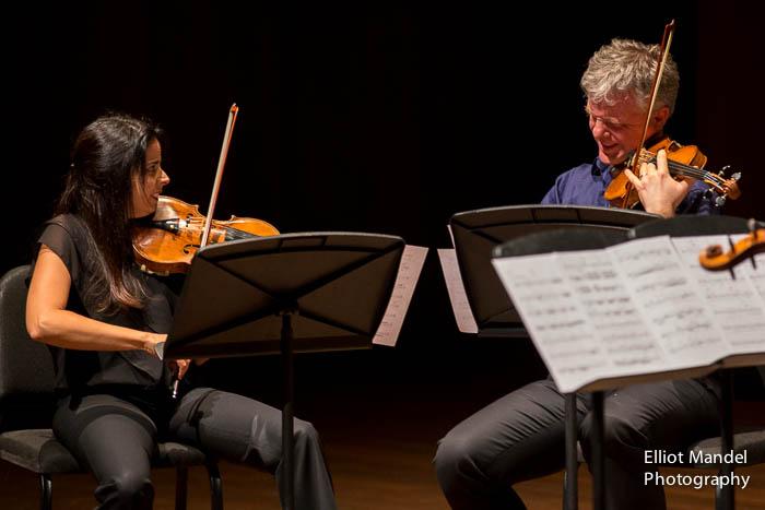 Simin Ginatra, Sibbi Bernhardsson of the Pacifica Quartet.